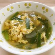 にらたまスープ  ★宇都宮学校給食