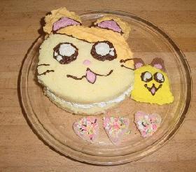 とっとこハム太郎とちびまるちゃんケーキ