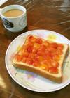 さくらんぼのタルトトースト