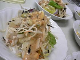 お豆腐のサラダ(金のごまだれ)