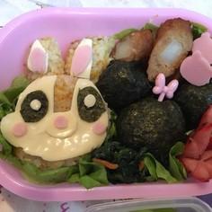 幼稚園園児♡私風のミスバニーお弁当♡