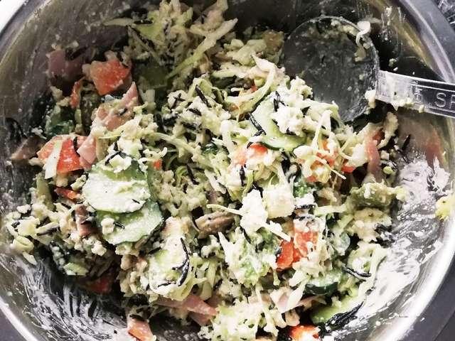 ひじき 豆腐 サラダ