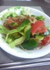 きゅうり&トマト&レタスのじゃこサラダ