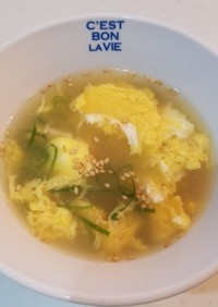 ダシダで作る簡単卵スープ!