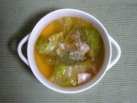 簡単!!ベーコン&キャベツの洋風スープ