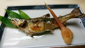 鮎の塩焼き(踊り串のさし方)