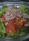 レタス・トマト・ツナの生野菜サラダ
