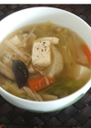 豆腐と野菜の和風スープ