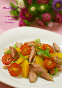 鴨肉のオレンジサラダ仕立て