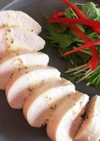 【低温調理器】マスタードマヨの鶏ハム