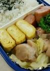 お弁当に鶏肉とキャベツ炒め