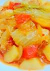 簡単☆塩麹で柔らか胸肉のとまと塩肉じゃが