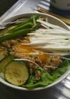 大絶賛肉味噌と夏野菜のどんぶり