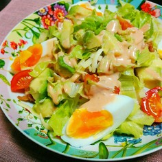 夏ご飯⭐タコライス風サラダご飯