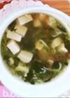 離乳食:豆腐とキュウリのしらす干しスープ