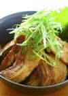 豚バラ肉と茄子の蒲焼丼