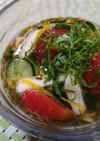胡瓜とトマトのネバトロ酢物