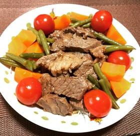 牛肉ステーキの彩り風!(^^)!