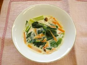 小松菜のアジアンスープ