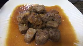 簡単・牛(成型)肉のシャリアピンステーキ