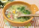 10分で作れる☘️カニ缶で贅沢中華スープ