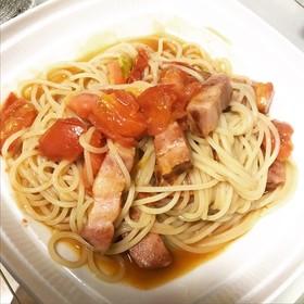 トマトとベーコンの塩レモンパスタ