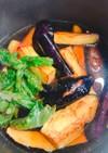 市販の麺つゆで、茄子とししとうの揚げ浸し