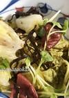 白菜の梅、塩昆布和え