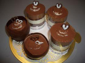 ♪チョコとチーズのコラボムースケーキ♪
