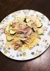 豚肉とズッキーニの塩麹スパゲティ!