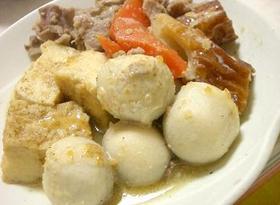 里芋と豚肉のごま&ナッツ風味煮