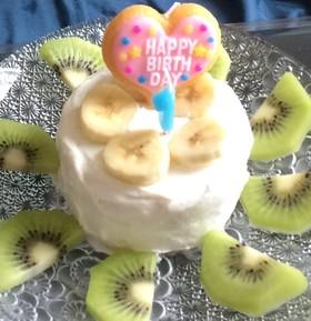 犬も人間も食べられる誕生日ケーキ