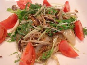 金胡麻のきのこと水菜の温サラダ