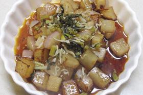 ヘルシーな☆ダイコンのサイコロステーキ