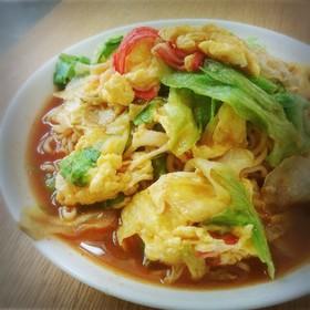 サッポロ一番みそラーメン~レタス旨辛冷麺