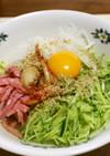 野菜たっぷり冷麺風の冷やし塩ラーメン