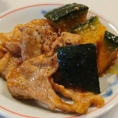 豚肉とかぼちゃのオイマヨ炒め☆