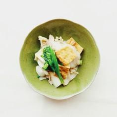 簡単絶品★豚バラ肉×厚揚げ×カブの炒め物