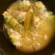 白菜と豚薄切り肉のコンソメ煮