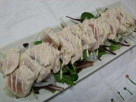 鶏ささみのカルパッチョサラダ
