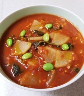 麹とトマトのアレンジ色々スープ