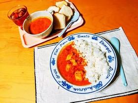 トマトとヨーグルトで作るチキンカレー