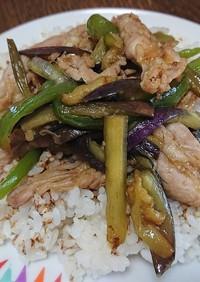 わさびの香り✨鳥せせりと細切り野菜の炒飯
