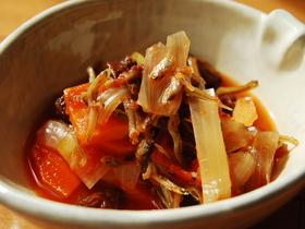 食べる煮干のトマト煮