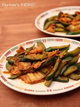 【農家のレシピ】きゅうりの豚キムチ