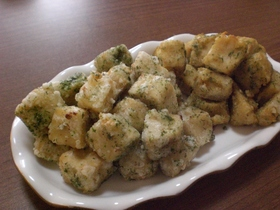 高野豆腐の煮物で揚げ物