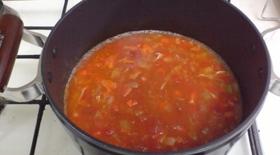 簡単☆ピリ辛ミネストローネ風スープ