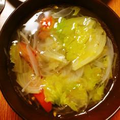 夏野菜のさっぱり塩スープ