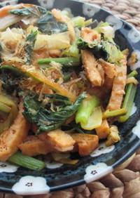 小松菜の油揚げ入りキムチ炒め (•ө•)