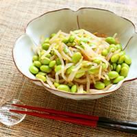 【作り置き】もやしと枝豆のピリ辛ナムル